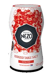 Iodised table salt extra fine 125g Mini shaker